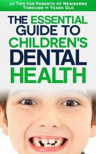 booklet cover - essential guide to childrens dental health - 27 tips