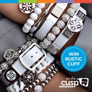 Beautiful sparkling white and silver bracelets from Rustic Cuff